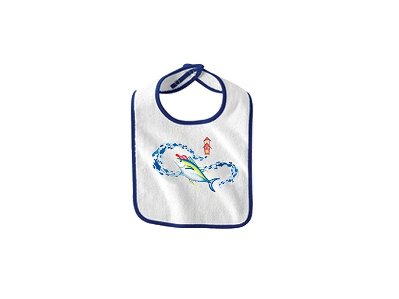 Saltwater Sandbox School Time Tuna Boy's Bib