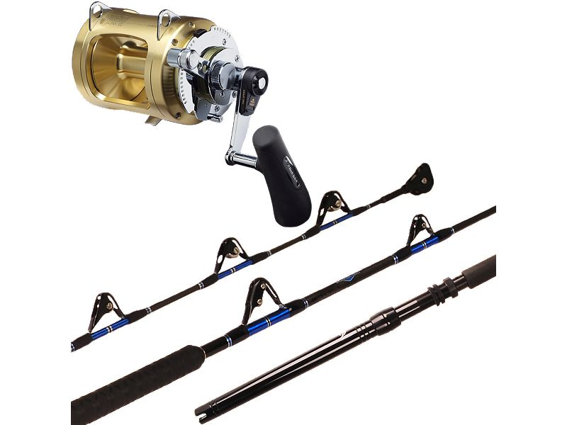 Melton Tackle Charter Series 60-100 Stand-Up/Shimano Tiagra 50WLRS Combo