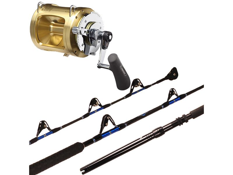 Melton Tackle Charter Series 60-100 Stand-Up/Shimano Tiagra 80WA Combo