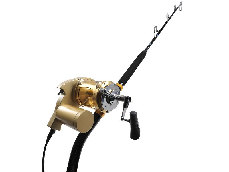 Dolphin Electric TI80W w/Melton Tackle 130 Deep Drop Rod