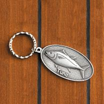 Pewter Fish Key Chains