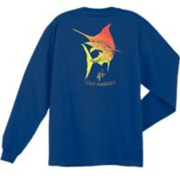 Guy Harvey Marlin Scribble Long Sleeve Shirt