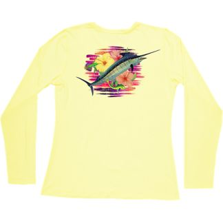 Guy Harvey Flippin' Flowers Pro UVX Women's Long Sleeve Shirt