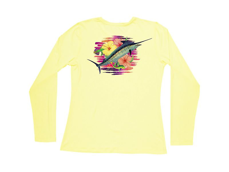 Guy Harvey Flippin' Flowers Pro UVX Women's Long Sleeve Shirt