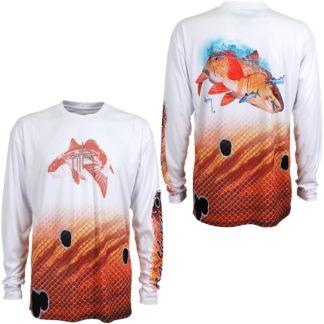 Guy Harvey Redfish Pro UVX Performance Long Sleeve Shirt