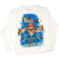 Pirate Shark Youth Long Sleeve Shirt