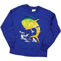 Guy Harvey Bull Dolphin Youth Long Sleeve Shirt