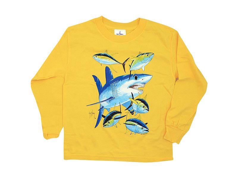 Guy Harvey Mako Shark Youth's Long Sleeve Shirt