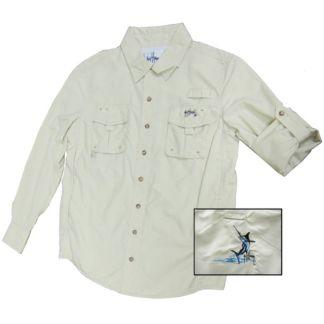 Guy Harvey Marlin Technical Boy's Long Sleeve Shirt