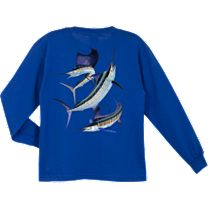 Guy Harvey Grand Slam Youth's Long Sleeve Shirt