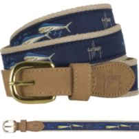 Guy Harvey Dolphin and Flying Fish Belt
