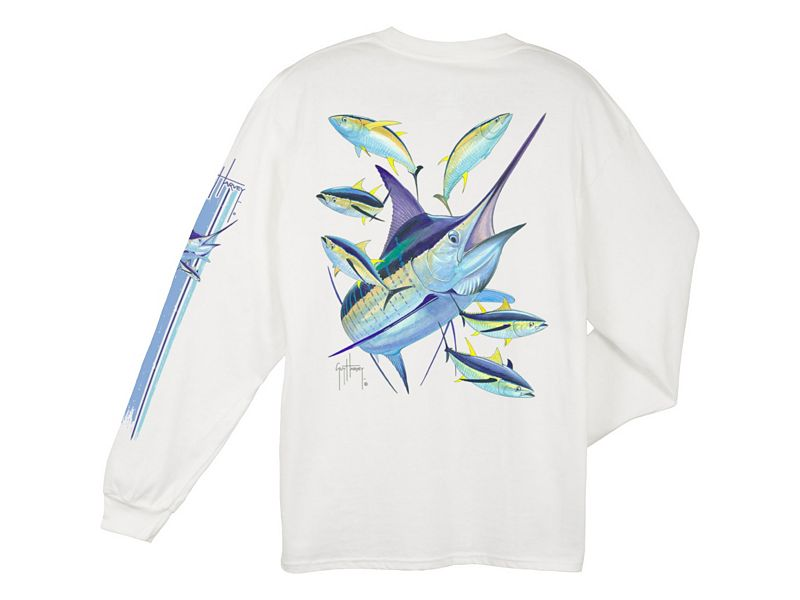 Guy Harvey Marlin Yellowfin Long Sleeve Shirt