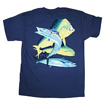 Guy Harvey Bull Dolphin, Wahoo, Kingfish Youth T-Shirt