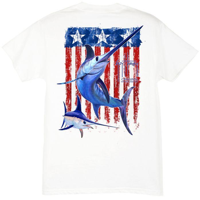 Guy Harvey Swordfish Flag Youth T-Shirt