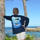 Guy Harvey Sailfish Spiral Youth Long Sleeve Shirt