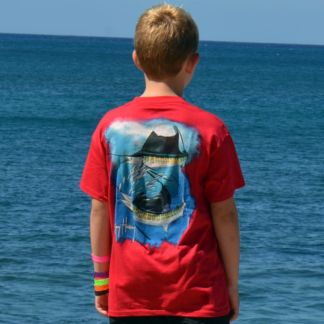 Guy Harvey Sailfish Spiral Youth T-Shirt