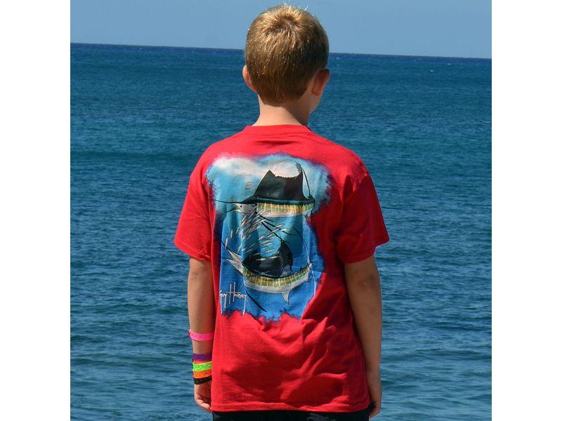 Guy Harvey Sailfish Spiral Youth T-Shirt