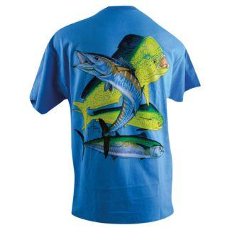 Guy Harvey Bull Dolphin, Wahoo, Kingfish T-Shirt