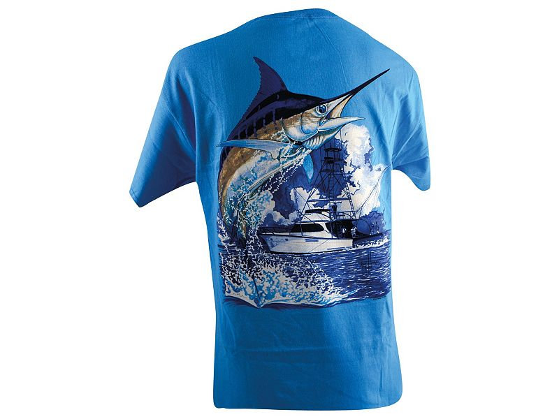 Guy Harvey Marlin Boat T-Shirt