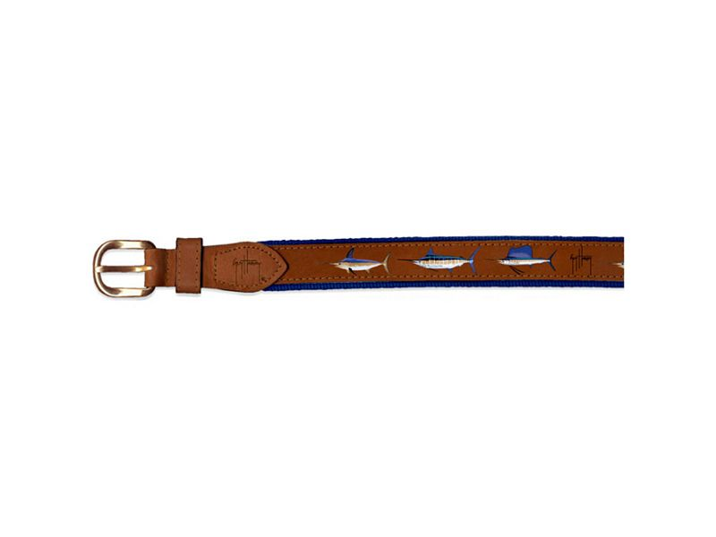 Guy Harvey Offshore Slam Leather Belt