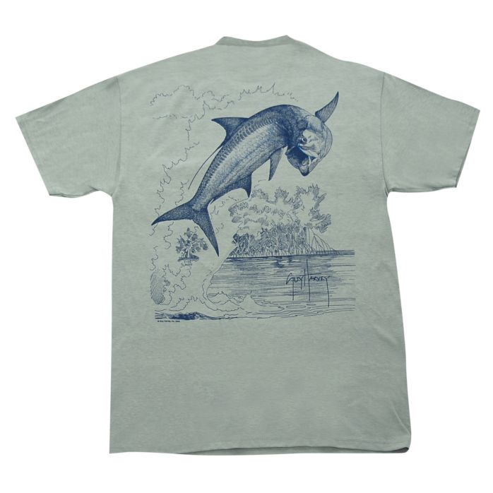 Guy Harvey Tarpon Etching T-Shirt