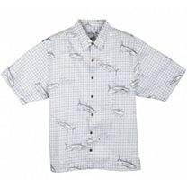 Guy Harvey Tuna Plaid Buttondown Shirt
