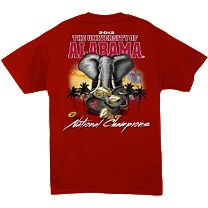 G. H. Univ. of Alabama Collegiate 2012 Championship T-Shirt