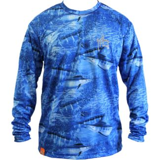 Guy Harvey Legend Camo Long Sleeve Performance Shirt