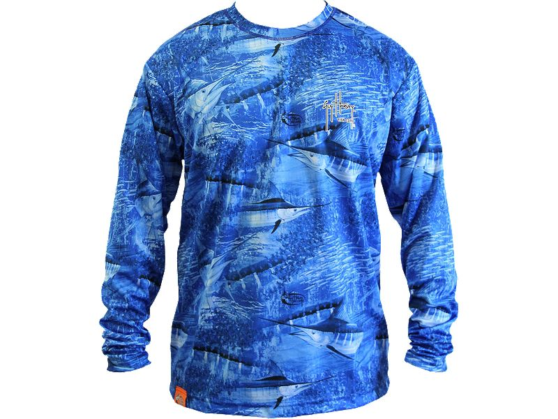 Guy Harvey Legend Boys Camo Performance Long Sleeve Shirt