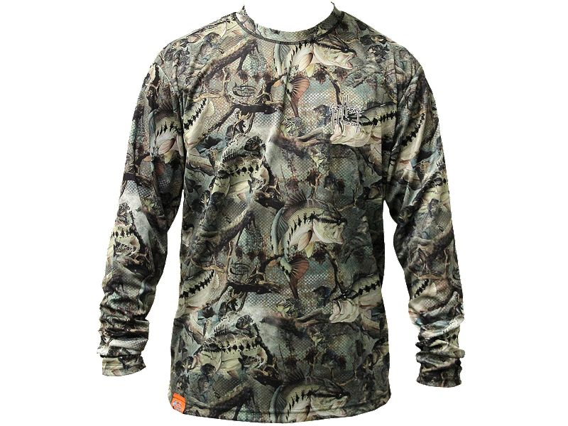 Guy Harvey Strike Camo Long Sleeve Performance Shirt