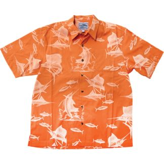 Guy Harvey Sailfish Etching Buttondown Shirt