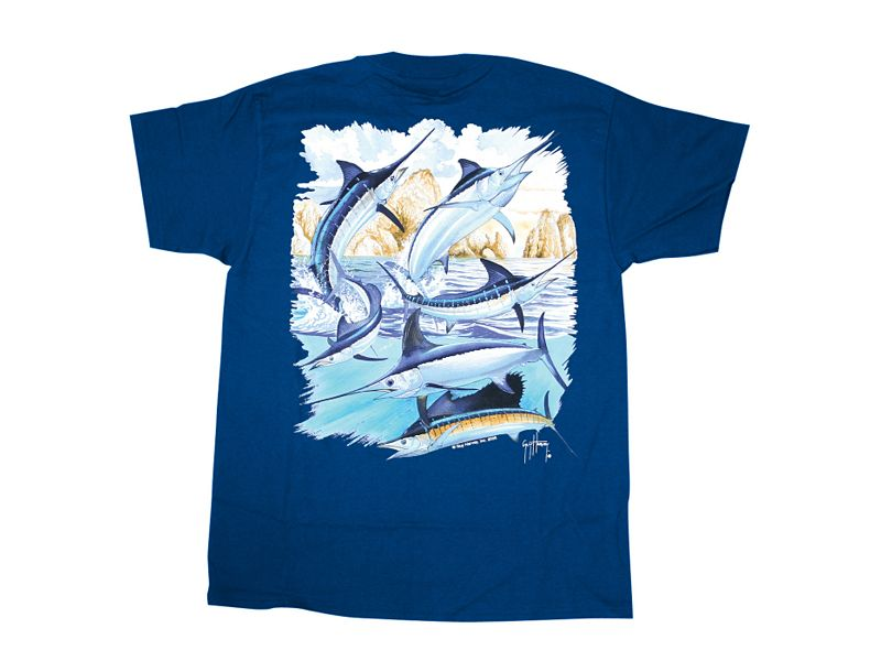 Guy Harvey Cabo Billfish Collage T-Shirt