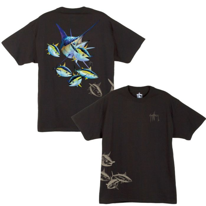 Guy Harvey Marlin & Tuna Front and Back T-Shirt