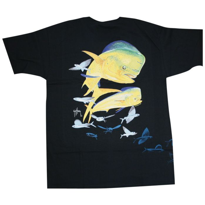 Guy Harvey Flying Fish Dolphin Front and Back T-Shirt