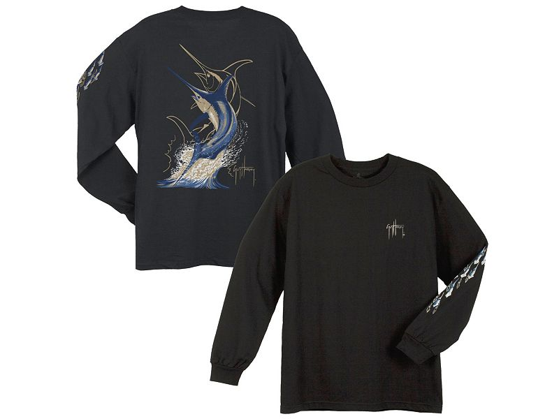 Guy Harvey Swordfish Strike Long Sleeve Shirt