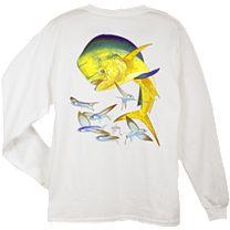 Guy Harvey Bull Dolphin Long Sleeve Shirt