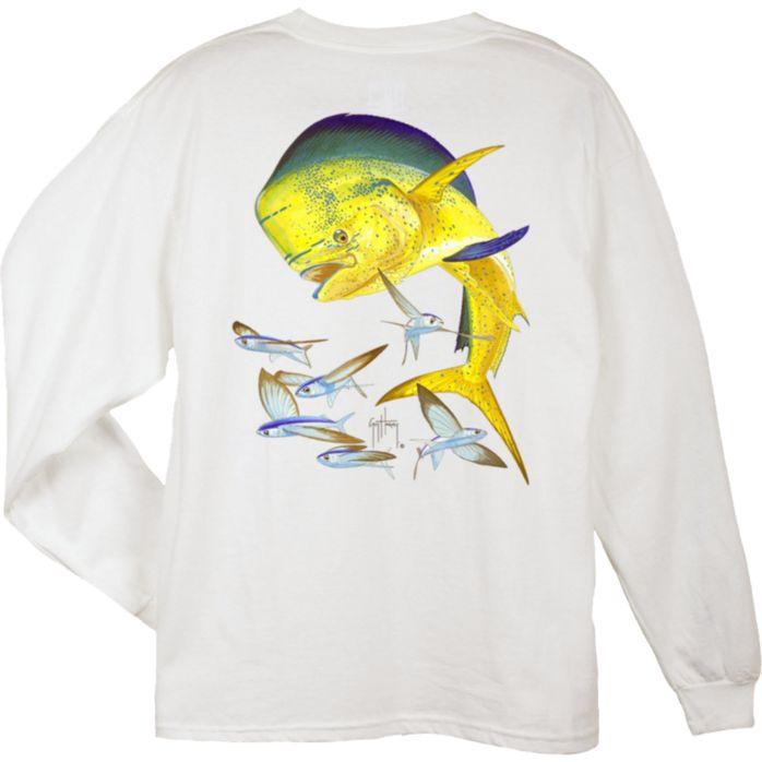 Guy Harvey Bull Dolphin Long Sleeve Shirt