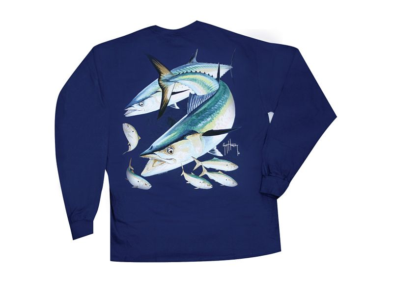 Guy Harvey Kingfish Long Sleeve Shirt