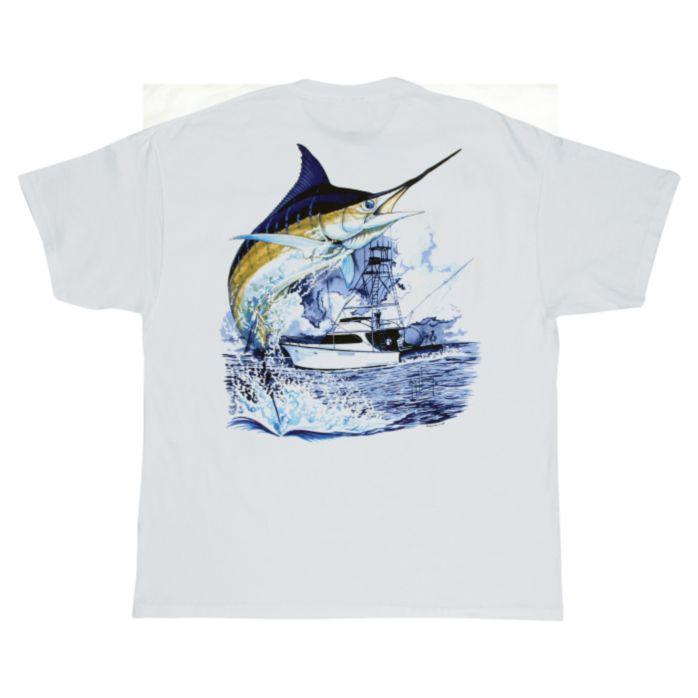 Guy Harvey Marlin Boat T-Shirt