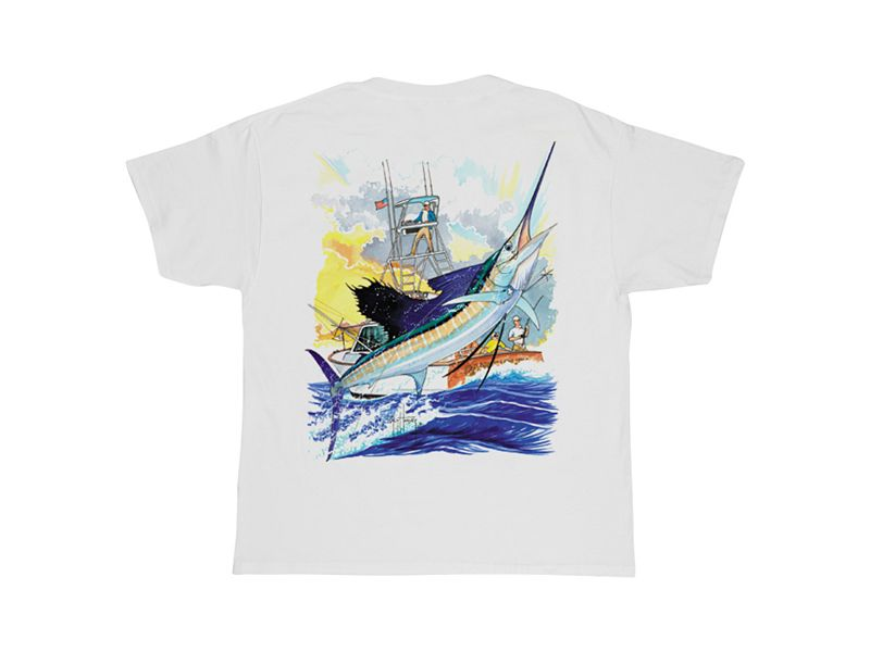 Guy Harvey Sailfish Boat T-Shirt