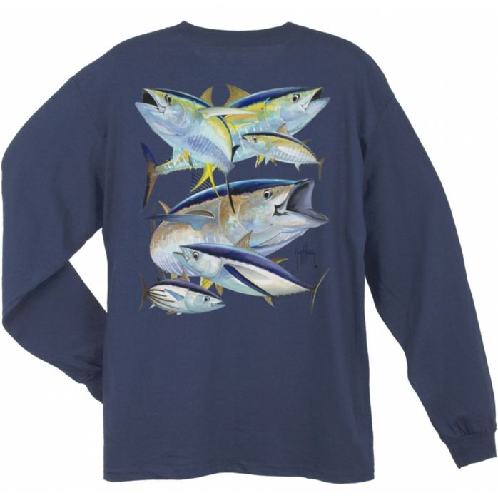 Guy Harvey Tuna Collage Long Sleeve Shirt