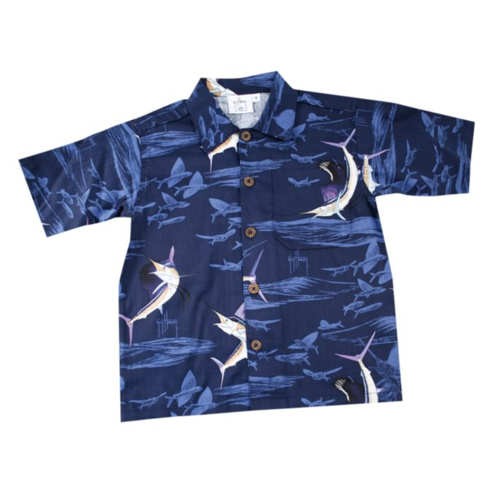 Guy Harvey Sailfish Shadow Toddler Buttondown Shirt