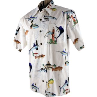 Guy Harvey Florida Lighthouse Buttondown Shirt