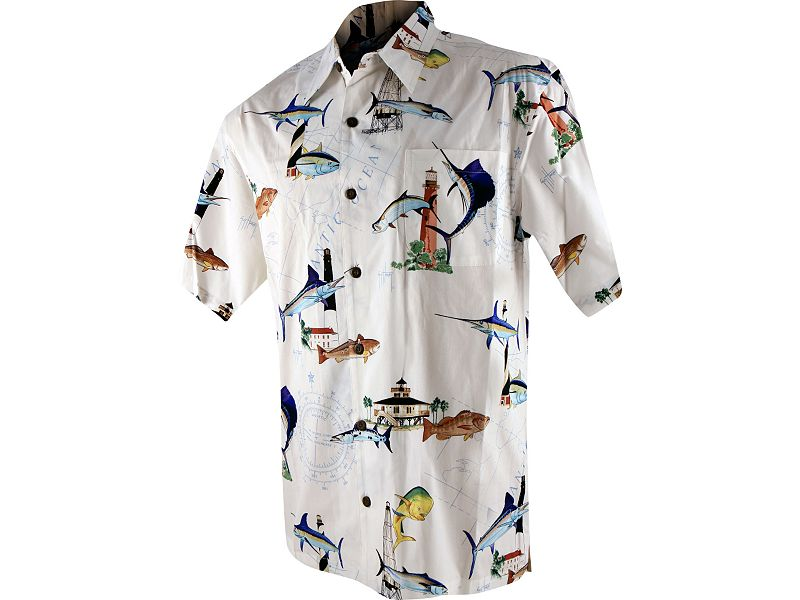 Guy Harvey Florida Lighthouse Buttondown Shirt