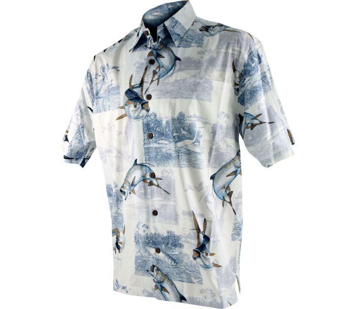 Guy harvey tarpon inshore buttondown shirt for Button down fishing shirts
