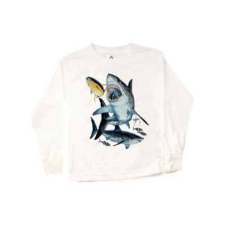 Guy Harvey Great White Youth Long Sleeve Shirt