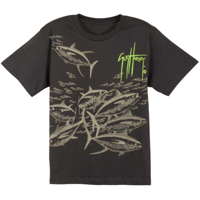 Guy Harvey Tuna Etching Premium Youth T-Shirt