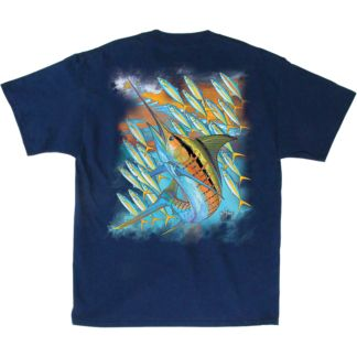 Guy Harvey Hot Marlin Rainbow T-Shirt