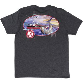 Guy Harvey Collegiate Fishing Club Alabama T-Shirt