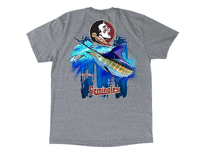 Guy Harvey Collegiate Triple Threat Seminoles T-Shirt